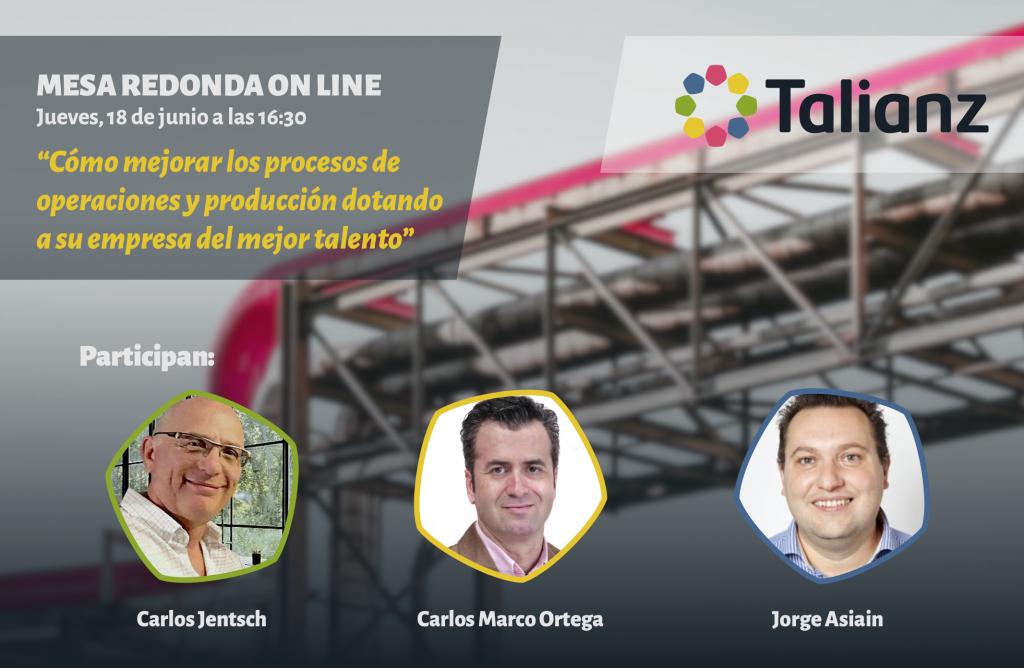 Cómo mejorar los procesos de operaciones y producción, mesa redonda online Talianz